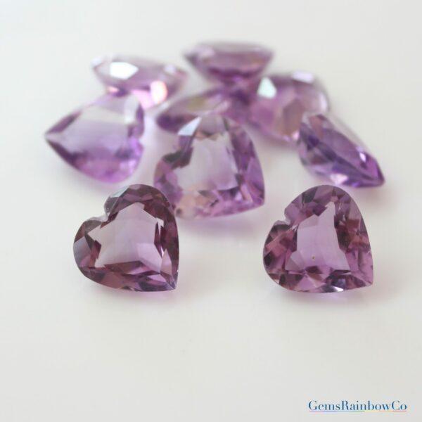 Amethyst Stone Heart
