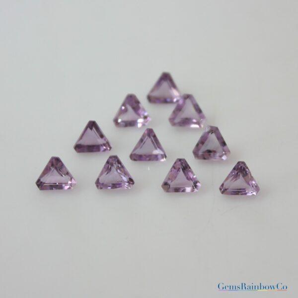 Amethyst Stone Triangle