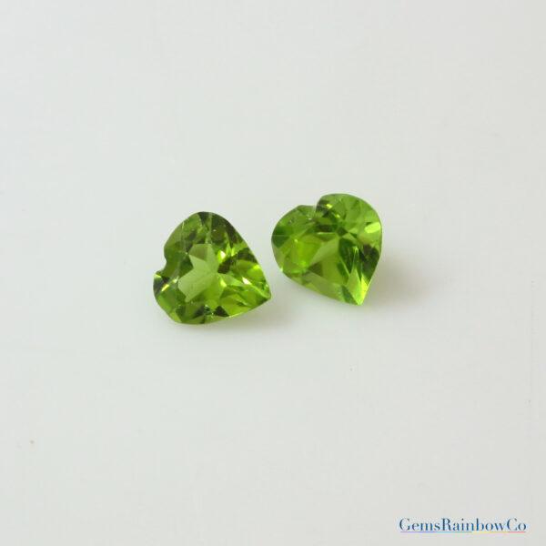 Peridot Stone Heart
