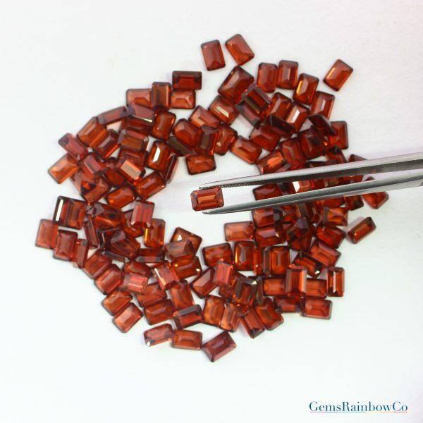 Garnet Faceted Octagon